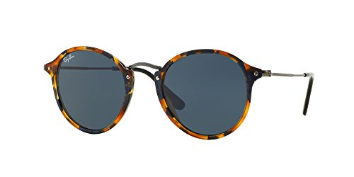 Ray Ban RB2447 1158R5 49M Spotted Blue - Ray Round Sunglasses Ban Fleck