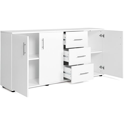 Best Choice Products Multi-Purpose 3-Door Storage Cabinet For Home, Office