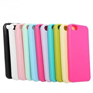 Pure Colors Silicone Gel Soft Back Case Cover For iPhone 5 5G 5S --- Color:Red