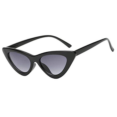 MagiDeal Eye Cat Sunglasses Lunettes de Soleil Femme UV 400 Monture Noir Pack / 2 Paires wx6lhq1v