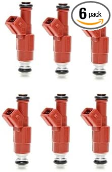 Bosch Upgrade Set Of 6 Fuel Injectors for Jeep 4.0L 4 Nozzle