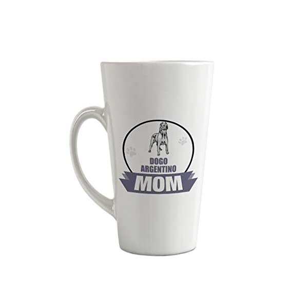 Ceramic Custom Latte Coffee Mug Cup Mom Dogo Argentino Dog Tea Cup 17 Oz Design Only 1