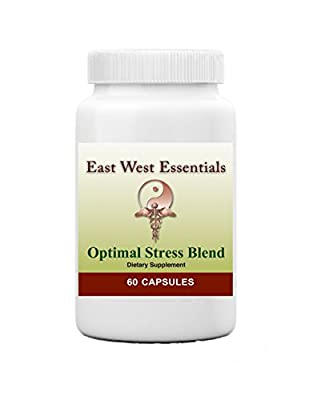 Optimal Stress Blend - Dietary Supplement by East West Essentials - Vitamin B Complex Blend - Helps Boost Adrenal Glands - Offers Nutritional Support For Anxiety And Depression