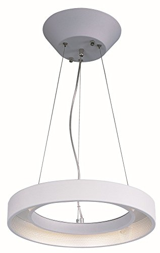 Apollo Ceiling Fan - ET2 E20225-MW Apollo LED Single Pendant, Matte White Finish, Glass, PCB LED Bulb, 7W Max, Dry Safety Rated, 3000K Color Temp, Electronic Low Voltage (ELV) Dimmable, Shade Material, 1610 Rated Lumens