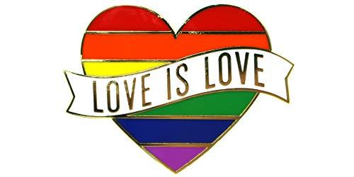 Gay Pride Heart Rainbow Flag Lapel Pin - LGBTQ Pins -
