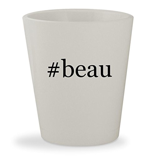 #beau - White Hashtag Ceramic 1.5oz Shot Glass