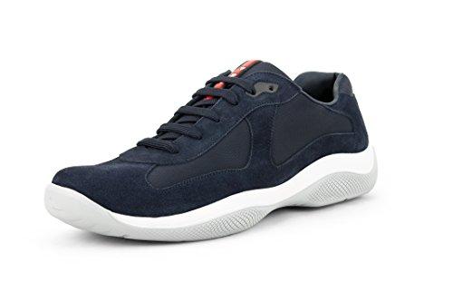 (Prada Men's 'America's Cup' Suede with Mesh Sneaker, Blue (13 US / 12 UK))