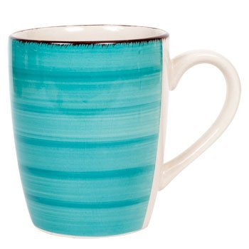 Royal Norfolk Turquoise Swirl Stoneware Mugs - 12 oz. - Brand New, Sealed and Ships Within 24 Hours - Customer Satisfaction Guaranteed