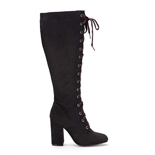 Laced Biker Boots - 4