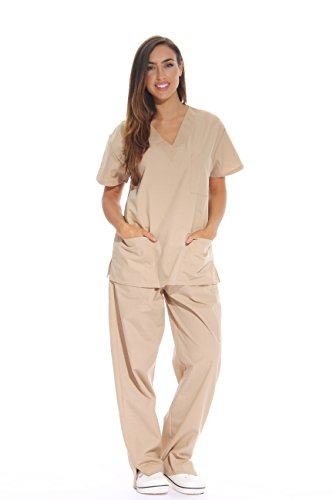 Just Love Women's Khaki Scrub Set - Extra Small