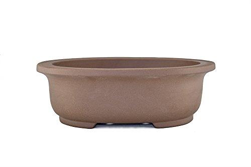 Extra Large Unglazed 20″ Oval Shallow Yixing Zisha Ceramic Porous Bonsai Pot (PB16-6)