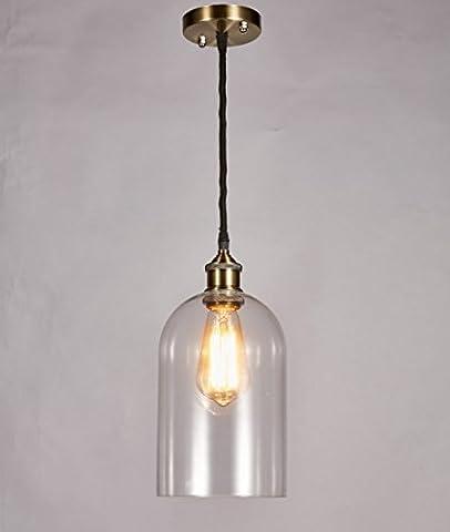 Diamond Life Modern Industrial Edison Vintage Style Pendant 1-Light Hanging Ceiling Lighting Lamp, - Diamond Style Light