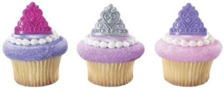 Diva Princess Ring (PRINCESS Tiara CROWNS Pink Purple Silver 12 Cupcake Cake Pop PARTY Favor RINGS)