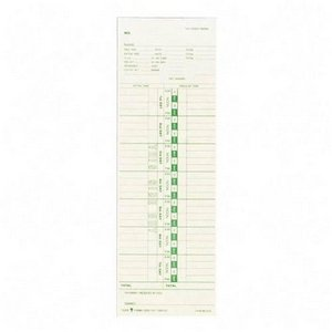 Tops - Time Cards, 143lb., Numbered Days,3-1/2''x10-1/2'', 100/PK, Sold as 1 Package, TOP 12553 by Tops (Image #1)