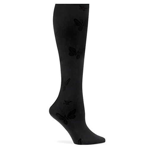 - Nurse Mates Black Butterfly Compression Trouser Socks