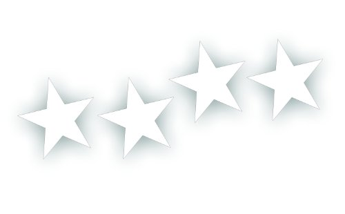 Military Standard Star Decal - 2 Inch, Set Of 4 - Restore Or Custom any Army Willys, Truck Or Jeep CJ Wrangler In White Gloss ()