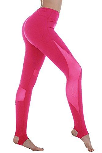 fd164585a6c18 BLACK JACKY Women's Stirrup Workout Running Yoga Pants Leggings ...