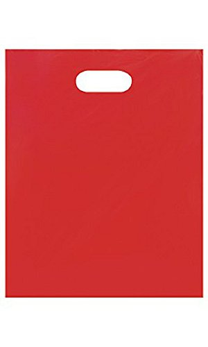 Medium Low Density Red Merchandise Bags - Case of 1,000 by STORE001