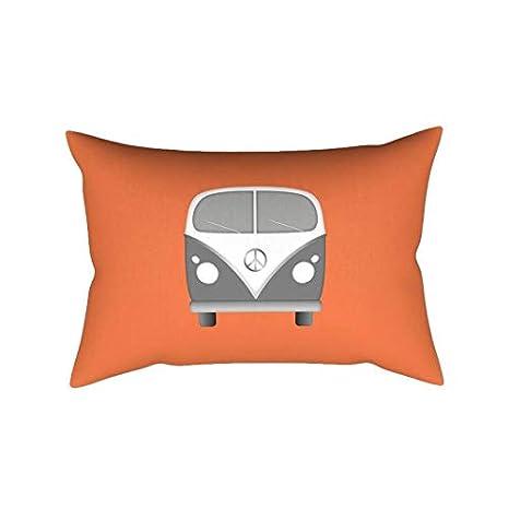 Zachrtroo - Almohada Lumbar Naranja para Caravana, cojín ...