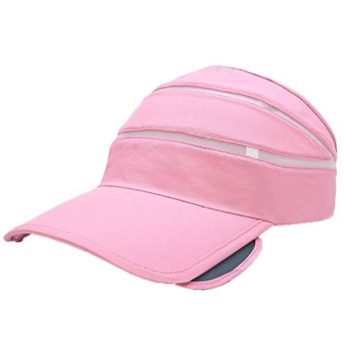 (Baseball Caps for Women Fashion Adjustable Snapback Hats Golf Bone Sport Sun Visor Hat Trucker Hat for Women Pink)