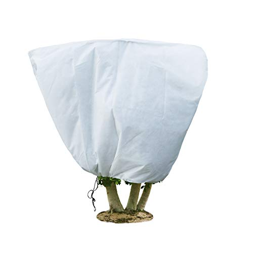 Agfabric Three Layers Fabric Plant Cover – 55″x 48″ Heavy Duty Frost Jacket, Shrub Cover for Freeze Protection & Cold Weather