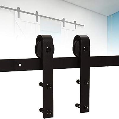 5FT/152cm Herraje para Puerta corrediza de granero Hardware Equipo Accesorios para Puertas Puerta sencilla: Amazon.es: Bricolaje y herramientas