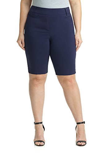 Rekucci Women's Ease In To Comfort Curvy Fit Plus Size Modern City Short (14W,Navy) by Rekucci (Image #3)