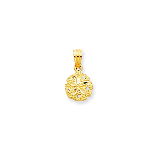 14k Gold Sand Dollar Pendant (0.59 in x 0.31 (14k Gold Small Sand)