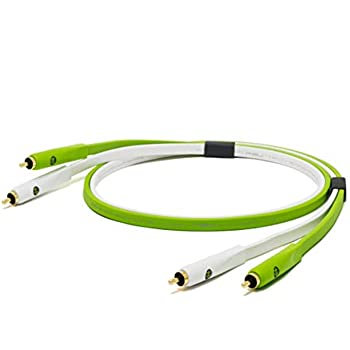 Oyaide: Class B RCA Cables, DUO 1.0m - Green (Matching Pair)