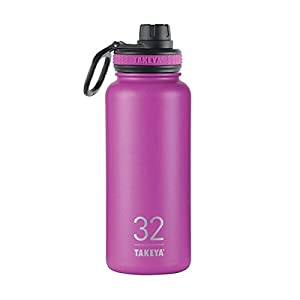 Takeya Originals Insulated Stainless Steel Water Bottle, 32 oz, Orchid