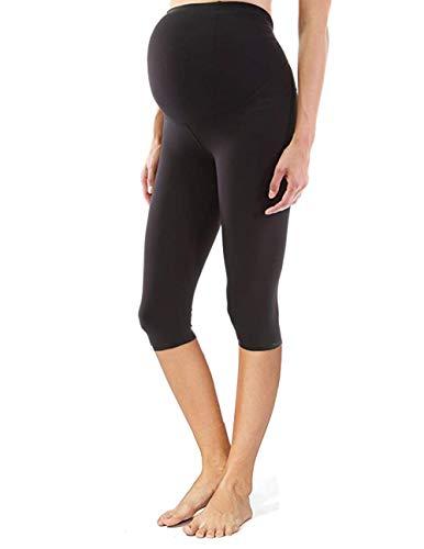 JUDITH & FLORINE 3/4 Black Maternity Legging - XL