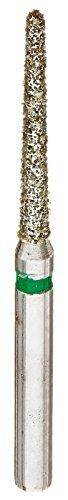 DEFEND DIAMOND Round End Taper Bur #856-018C COARSE GREEN 10pc/1Pk