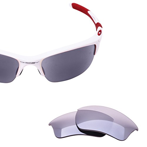 LenzFlip Lens Replacement for Oakley Half Jacket 2 0 XL - Gray Polarized with Light Silver Mirror Lenses ()