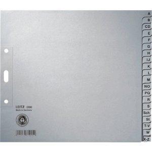 Leitz 25 x Register A4 A-Z 100g//qm grau