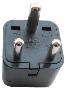 3 Round Universal Grounded International Adapter