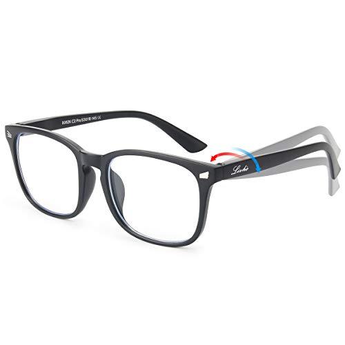- ng/TV/Phones Glasses for Women Men, Eyewear Spring Hinge Frame Eyeglasses - 0.0 Magnification LI8082-14