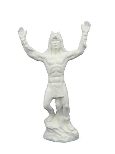 Native American Shaman Warrior - Ready to Paint Ceramic Bisque - Hand Poured in The USA (2-3L) ()