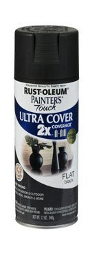 Painter's Touch® 2X™ 12 Oz Black Flat Cover Spray Paint [Set of 6] (Painters Touch Flat Black)
