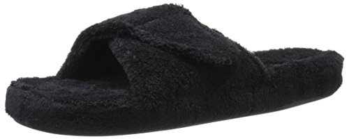 Eikel Dames Spa Ii Slide Slipper, Zwart, X-large / 9.5-10.5 M Us