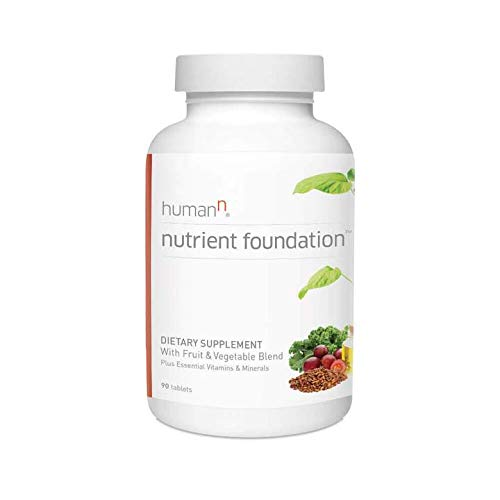 HumanN Nutrient Foundation Daily Multivitamin Multimineral Supplement. Vitamins A C E D B1 B2 B3 B5 B6 B12, Grape Seed Extract, Magnesium, Biotin, Lutein, Cardiovascular, Immune Health – 90 Tablets