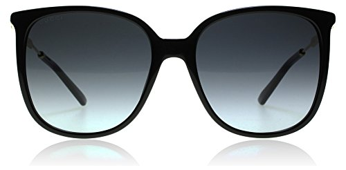 Gucci 6UB Shiny Black 3845/S Butterfly Sunglasses Lens Category - Butterfly With Sunglasses Gucci