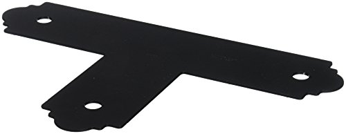 Simpson Strong Tie Outdoor Accents Simpson APT4 4 x 4-Inch Zmax Galvanized Steel Black Powder-Coat Flat T Strap (1-Pack), 4