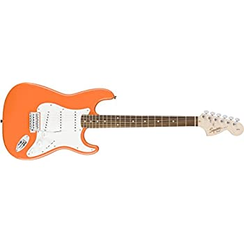 Squier by Fender Affinity Stratocaster Beginner Electric Guitar - Rosewood Fingerboard, Competition Orange