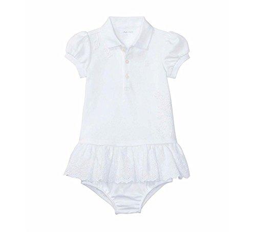 Ralph Lauren Infant Dresses (Ralph Lauren Baby Girls Eyelet Polo Dress & Bloomer Set White (18 Months))
