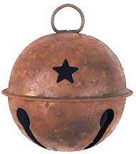 Rusty Extra Large Jingle Bell Star Cut Outs Country Primitive Craft Décor ()