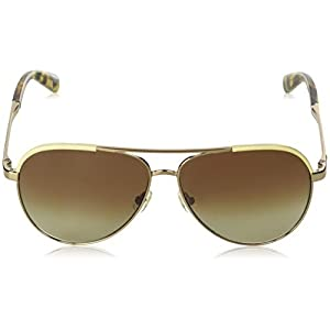 Kate Spade New York Women's Amarissa Aviator Sunglasses, BEIG BRWN, 59 mm