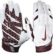 Nike Vapor Jet 3.0 Receiver Gloves Small White/Maroon