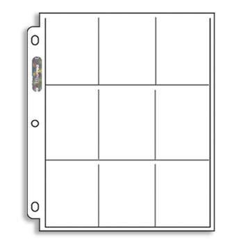 25 Twenty Five 9 Pocket Pages For Baseball Cards Football Cards Etc Fits Into 3 Ring Notebook