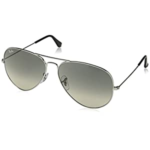 Ray-Ban Men's 0rb3025003/3262aviator Large Metal Non-Polarized Iridium Aviator Sunglasses, Matte Silver, 62 mm