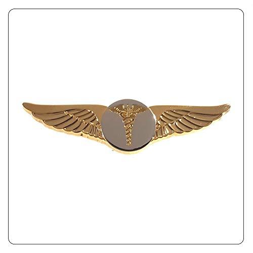 Caduceus Flight Wings Paramedic EMT Pilot Nurse Doctor Medical Gold with Silver - A 120 ()